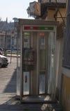 Ιταλία, Τοσκάνη, πόλη της Φλωρεντίας Τηλεφωνικοί θάλαμοι Στοκ εικόνα με δικαίωμα ελεύθερης χρήσης
