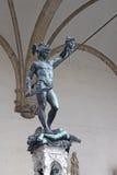 Ιταλία Φλωρεντία Loggia Lanzi Το γλυπτό Perseus με τον προϊστάμενο Medusa Benvenuto Cellini Στοκ εικόνες με δικαίωμα ελεύθερης χρήσης