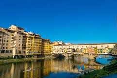 Ιταλία, Φλωρεντία, Ponte Vecchio Στοκ Εικόνες