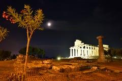 Ιταλία, Campania, Paestum - ναός Αθηνάς στοκ φωτογραφία