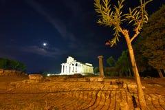 Ιταλία, Campania, Paestum - ναός Αθηνάς στοκ φωτογραφίες