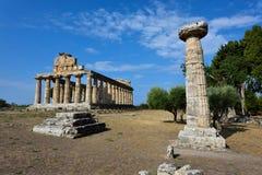Ιταλία, Campania, Paestum - ναός Αθηνάς στοκ φωτογραφίες με δικαίωμα ελεύθερης χρήσης