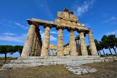 Ιταλία, Campania, Paestum - ναός Αθηνάς στοκ εικόνες