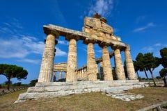 Ιταλία, Campania, Paestum - ναός Αθηνάς στοκ εικόνες με δικαίωμα ελεύθερης χρήσης