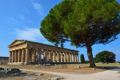 Ιταλία, Campania, Paestum - ναός Ποσειδώνα στοκ φωτογραφία