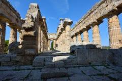 Ιταλία, Campania, Paestum - ναός Ποσειδώνα στοκ φωτογραφίες