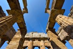 Ιταλία, Campania, Paestum - ναός Ποσειδώνα στοκ φωτογραφίες με δικαίωμα ελεύθερης χρήσης