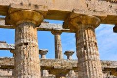 Ιταλία, Campania, Paestum - ναός Ποσειδώνα στοκ φωτογραφία με δικαίωμα ελεύθερης χρήσης