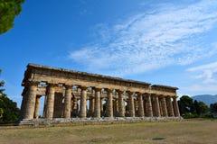 Ιταλία, Campania, Paestum - ναός Hera στοκ εικόνες