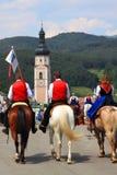 Ιταλία, Trentino Alto Adige, Siusi allo Sciliar Στοκ Εικόνα