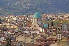 Ιταλία Vuew στη μεγάλη συναγωγή της Φλωρεντίας Στοκ Εικόνες