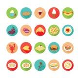 Ιταλικά εικονίδια τροφίμων καθορισμένα Διανυσματική απεικόνιση