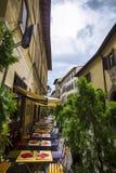 Ιταλικά εστιατόριο, pizzeria και trattoria, Φλωρεντία Τοσκάνη Στοκ Εικόνα