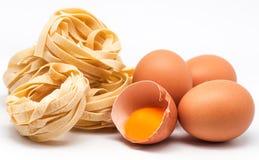 Ιταλικά ζυμαρικά 28 αυγών φωλιών Στοκ εικόνες με δικαίωμα ελεύθερης χρήσης