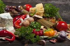 ιταλικά ζυμαρικά τρόφιμα έννοιας υγιή Στοκ εικόνα με δικαίωμα ελεύθερης χρήσης