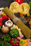 ιταλικά ζυμαρικά τρόφιμα έννοιας υγιή Στοκ εικόνες με δικαίωμα ελεύθερης χρήσης