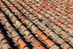 Ιταλικά κεραμίδια αργίλου Στοκ Φωτογραφία