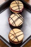 Ιταλικά ορισμένα γλυκά κέικ (macaron) Στοκ φωτογραφία με δικαίωμα ελεύθερης χρήσης
