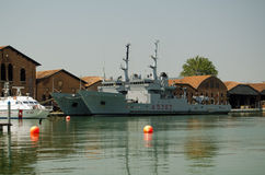 Ιταλικά πολεμικά πλοία, Βενετία Στοκ εικόνα με δικαίωμα ελεύθερης χρήσης