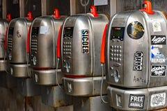 Ιταλικά πληρώστε τα τηλέφωνα Στοκ Εικόνα