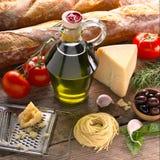 Ιταλικά συστατικά Στοκ Εικόνες