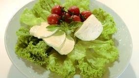 Ιταλικά τρόφιμα, μοτσαρέλα απόθεμα βίντεο