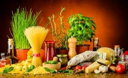 Ιταλικά τρόφιμα Στοκ Εικόνα