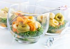 Ιταλικά verrines tortellini Στοκ Εικόνα