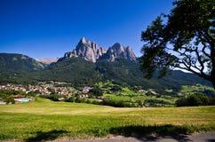Ιταλικές Άλπεις - το Sciliar Στοκ Φωτογραφίες