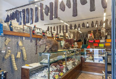 Ιταλικές παραδοσιακές ειδικότητες στο κατάστημα Στοκ εικόνα με δικαίωμα ελεύθερης χρήσης