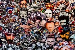 Ιταλικές προσωπικότητες Υπόβαθρο προσώπων Στοκ Εικόνες
