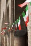 Ιταλικές σημαίες Στοκ φωτογραφίες με δικαίωμα ελεύθερης χρήσης