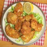 Ιταλικές τηγανισμένες λωρίδες κοτόπουλου Στοκ Εικόνα