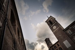 Ιταλική αίθουσα πόλεων στην κωμόπολη Fabriano Στοκ εικόνα με δικαίωμα ελεύθερης χρήσης