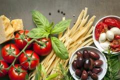 Ιταλική ανασκόπηση τροφίμων στοκ εικόνες με δικαίωμα ελεύθερης χρήσης