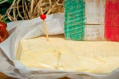 Ιταλική κινηματογράφηση σε πρώτο πλάνο τυριών πώλησης Primo Στοκ φωτογραφίες με δικαίωμα ελεύθερης χρήσης