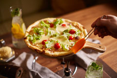 Ιταλική πίτσα στη στάση Στοκ Εικόνες