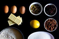ιταλική πίτσα συστατικών τροφίμων κουζίνας παραδοσιακή Στοκ Εικόνες