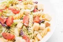 Ιταλική σαλάτα ζυμαρικών με τις ντομάτες στοκ εικόνες