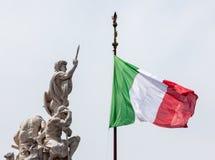 Ιταλική σημαία φυσική Στοκ Φωτογραφία