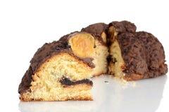 Ιταλική σοκολάτα Panettone φετών Στοκ εικόνα με δικαίωμα ελεύθερης χρήσης
