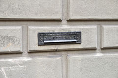 ιταλική ταχυδρομική θυρίδα Στοκ φωτογραφίες με δικαίωμα ελεύθερης χρήσης