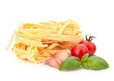 Ιταλική φωλιά ζυμαρικών tagliatelle Στοκ Εικόνες
