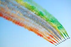 Ιταλική aerobatic ομάδα Στοκ εικόνα με δικαίωμα ελεύθερης χρήσης
