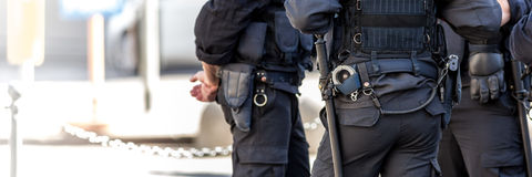 Ιταλικοί αστυνομικοί υπαίθριοι Στοκ φωτογραφία με δικαίωμα ελεύθερης χρήσης