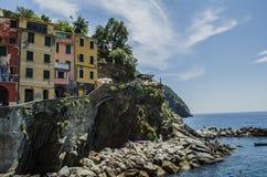 Ιταλικοί πόλη και ωκεανός Στοκ εικόνα με δικαίωμα ελεύθερης χρήσης