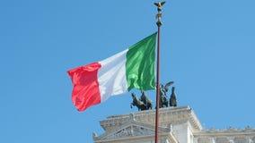 Ιταλικός βωμός σημαιών της πατρικής γης στη Ρώμη, Ιταλία απόθεμα βίντεο