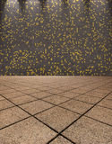Ιταλικός κεραμωμένος μωσαϊκό διάδρομος - υπόβαθρο Στοκ Εικόνα