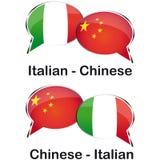 Ιταλικός κινεζικός μεταφραστής Στοκ φωτογραφία με δικαίωμα ελεύθερης χρήσης