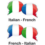 Ιταλικός μεταφραστής της Γαλλίας απεικόνιση αποθεμάτων